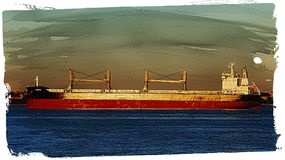 Cargo Ship Or Freighter Royalty Free Stock Photos