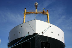 Cargo ship front stock image