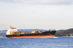 Cargo ship full of containers Stock Photography