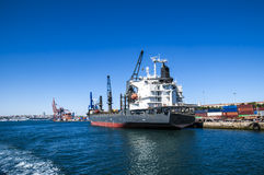 Cargo ship full of containers Royalty Free Stock Images