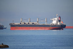 Cargo Ship Furness St. Kilda Anchored in Vancouver, Canada Stock Photo