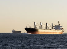 Cargo ship. In the Gulf Stock Images