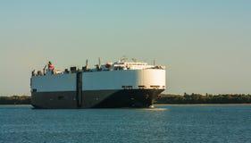 Cargo ship in the harbor Royalty Free Stock Photos