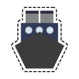 Cargo ship icon Stock Photography