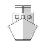Cargo ship icon Stock Image