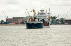 Free Cargo Ship In Harbor Royalty Free Stock Photo - 21200365