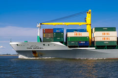 Cargo ship Iran in Rotterdam, Netherlands Royalty Free Stock Images