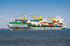 Cargo ship Iran in Rotterdam, Netherlands Royalty Free Stock Photo