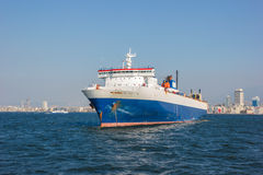 Cargo ship at Izmir Stock Photos