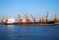 Cargo ship on loading Stock Photos