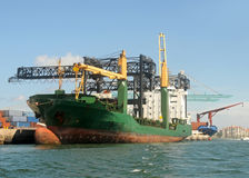 Cargo ship loading Royalty Free Stock Image