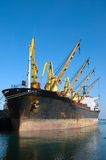 Cargo ship loading Royalty Free Stock Image
