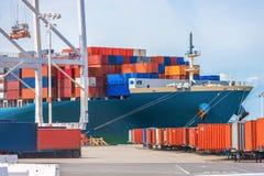 Cargo Ship Loading Royalty Free Stock Photos