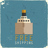 Cargo ship made of cardboard box Royalty Free Stock Image