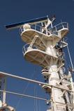 Cargo ship' mast Stock Image