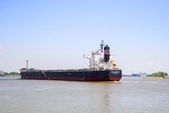 Cargo ship,Mississippi river Royalty Free Stock Images