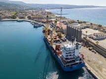 Cargo ship moored at the pier of the port of Vibo Marina, Calabria, Italy. BBC Chartering. Cargo ship moored at the pier of the port of Vibo Marina, Calabria royalty free stock photos