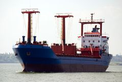 Cargo ship moving Royalty Free Stock Photos