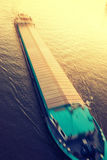 Cargo ship moving Stock Photos