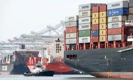 Cargo Ship MSC BRUNELLA arriving at the Port of Oakland Stock Images