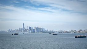 Cargo ship at New York Royalty Free Stock Images
