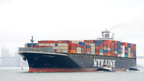 Cargo ship NYK APHRODITE entering the Port of Oakland Stock Photo