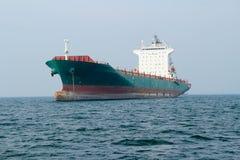 Cargo ship. In the ocean at the gulf of Thailand, Sri Racha, Thailand stock photos