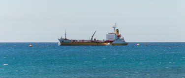 Cargo ship in ocean Royalty Free Stock Image