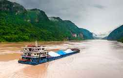Cargo Ship On The Yangtze River Stock Photo