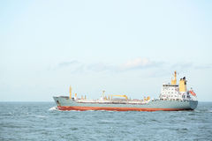 Cargo Ship in Open Water Stock Photo