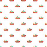 Cargo ship pattern, cartoon style Stock Images