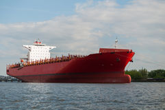Cargo Ship. Photo of a cargo ship waiting near the harbour Royalty Free Stock Photos