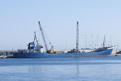 Cargo ship in the port Royalty Free Stock Images
