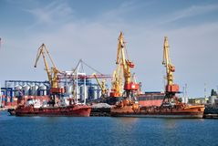 Cargo ship in port Royalty Free Stock Photo