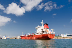 Cargo Ship in Port Stock Photo