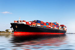 Cargo ship. In the port Stock Photo
