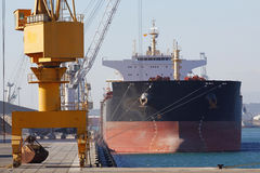 Cargo ship at port Stock Images