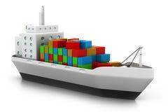Cargo ship at the port Stock Photos