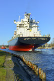 Cargo Ship at the Port of Gdansk, Stock Photos
