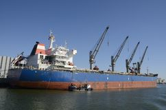 Cargo ship at the port Stock Images