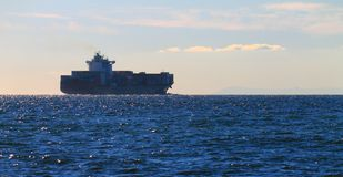 Cargo ship in Port Phillip Bay Royalty Free Stock Photography