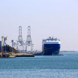 Cargo ship at the port Stock Photo