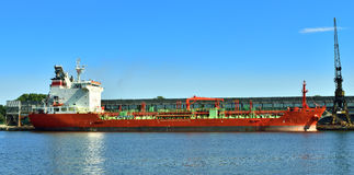 Cargo ship at port Stock Image
