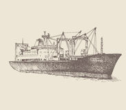 Cargo ship, reefer Baltic Forward Royalty Free Stock Image