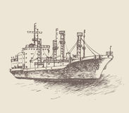Cargo ship, reefer Forward Royalty Free Stock Image