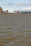 Cargo ship on the river Stock Photos