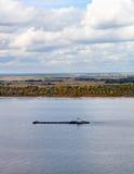 Cargo ship on the river. Stock Photo