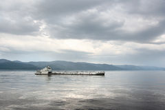 Cargo ship on the river Royalty Free Stock Image