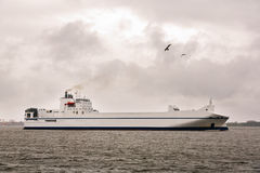 Cargo ship Ro-Ro in the Baltic Sea Royalty Free Stock Images