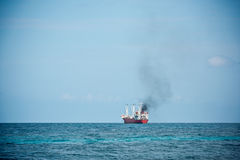 Cargo ship sailing in the Indian ocean Royalty Free Stock Photography